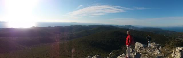 blog golly&bossy - planinarenje na Kom, Korčula